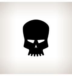 Silhouette Robot Skull on a Light Background vector image