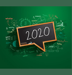 2020 new year business success strategy plan idea vector image