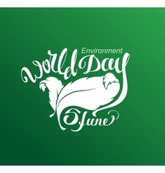 5 Jine World Environment Day Lettering text for vector