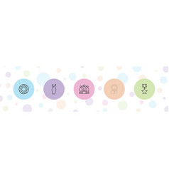 5 victory icons vector