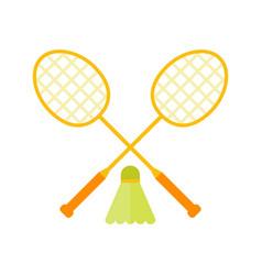 a badminton vector image