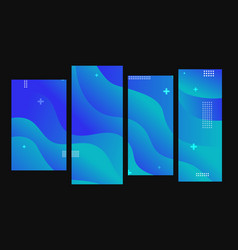abstract fluid shapes background blue duotone vector image