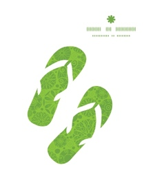 abstract green and white circles flip flops vector image
