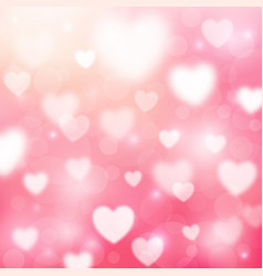 Abstract romantic pink background with hearts vector