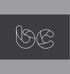 Alphabet letter bc b c combination black white vector
