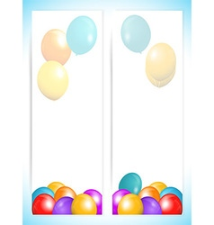 Balloons banners portrait background vector