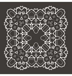 Beautiful Deco Black Mandala vector image