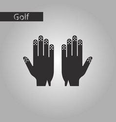 Black and white style icon golf gloves vector