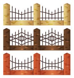 brick fences vector image