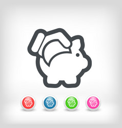 business coin icon vector image