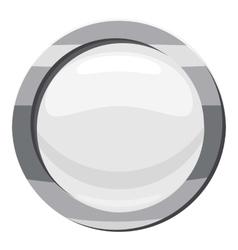 Button click icon cartoon style vector