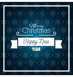 card merry christmas and happy new year graphic vector image