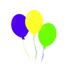 Colorful carnival balloons vector
