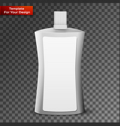 cosmetic or hygiene plastic bottle vector image
