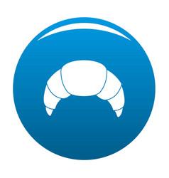 croissant icon blue vector image