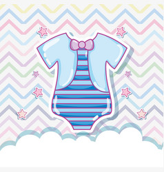 Cute baby clothes vector