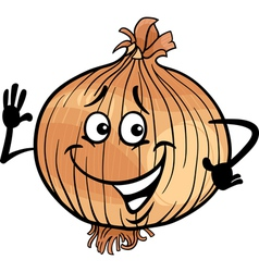 cute onion vegetable cartoon vector image