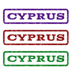 cyprus watermark stamp vector image