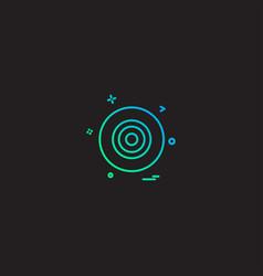 dart icon design vector image