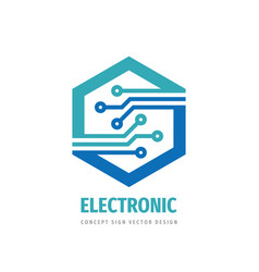 data digital electronic technology - logo vector image