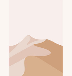 desert landscape in a vertical format light pink vector image