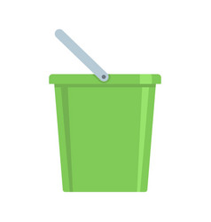 domestic bucket icon flat style vector image