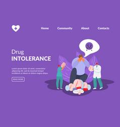 Drugs intolerance doctors give medicines vector
