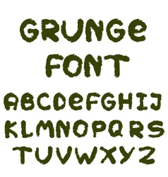 English alphabet in grunge style vector