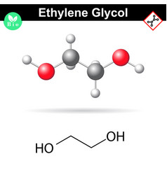 Ethylene glycol organic chemical compound vector