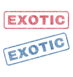 Exotic textile stamps vector