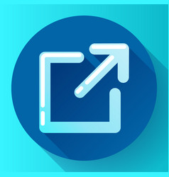 external link icon - user will know vector image
