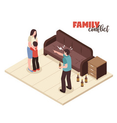 family conflicts composition vector image