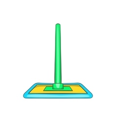 Floor cleaning mop icon cartoon style vector image