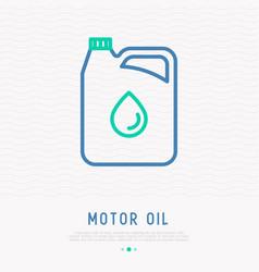 gallon of motor oil thin line icon vector image