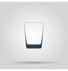 Glass of whiskey isolated photo-realistic vector image