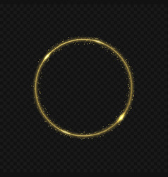 golden fire ring vector image