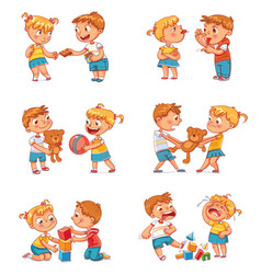 Good and bad behavior of a child vector
