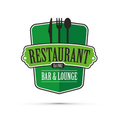 green restaurant design vector image