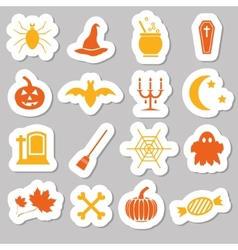 halloween stickers vector image