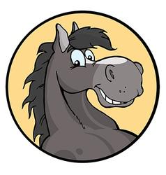 Happy Cartoon Horse vector image