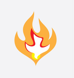 holyspirit fire vector image