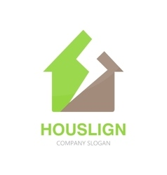 House logo design template vector image