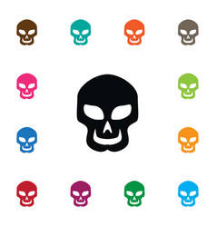 Isolated cranium icon skull element can be vector