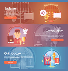 judaism catholicism orthodoxy christianic vector image