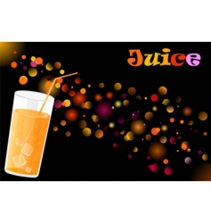 juice cocktail vector image