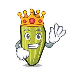 King cardamom mascot cartoon style vector
