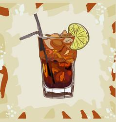 long island iced tea classic cocktail alcoholic vector image