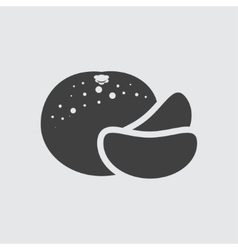 Mandarin icon vector image