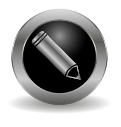Metallic pencil button vector image