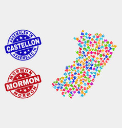Module castellon province map and scratched vector